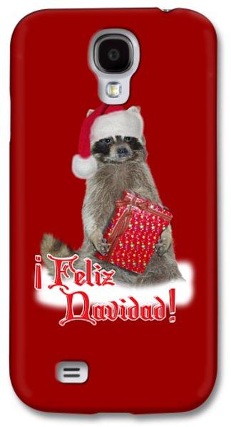 Feliz Navidad - Raccoon Galaxy S4 Case by Gravityx9  Designs