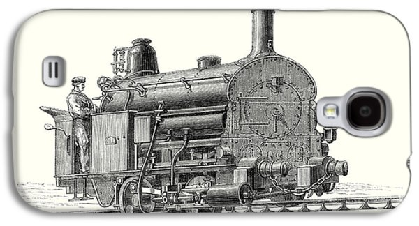Fell's Locomotive For The Rail Central Railway Galaxy S4 Case by English School