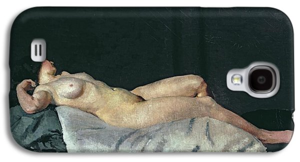 Female Figure Lying On Her Back Galaxy S4 Case by Dora Carrington