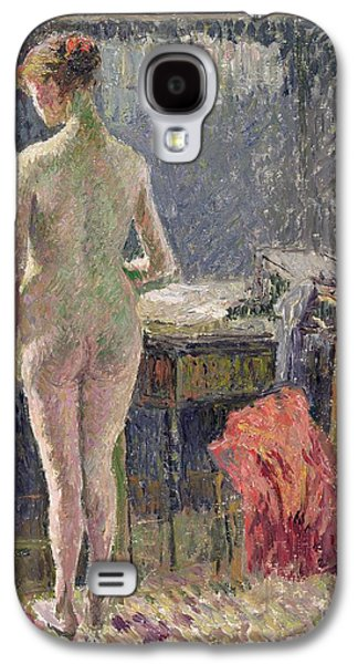 Female Nude Seen From The Back Galaxy S4 Case by Camille Pissarro