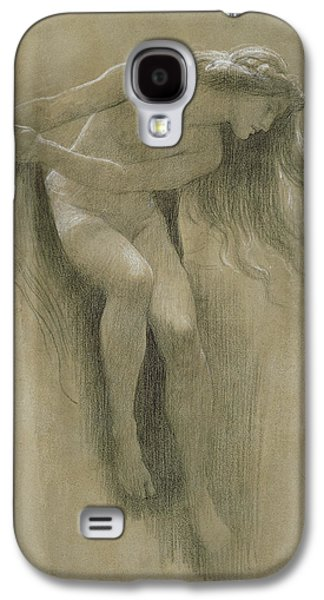 Nudes Pastels Galaxy S4 Cases - Female Nude Study  Galaxy S4 Case by John Robert Dicksee