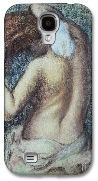 Nudes Pastels Galaxy S4 Cases - Femme a sa Toilette Galaxy S4 Case by Edgar Degas