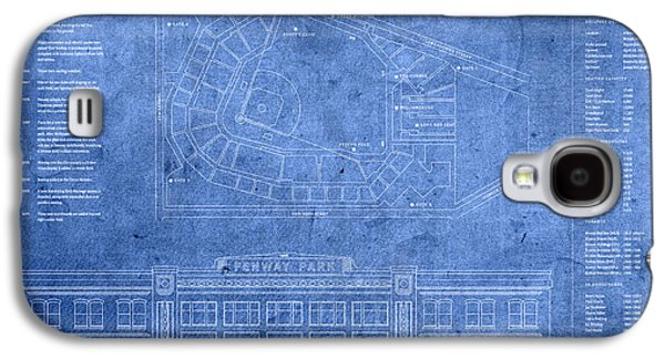 Fenway Park Blueprints Home Of Baseball Team Boston Red Sox On Worn Parchment Galaxy S4 Case