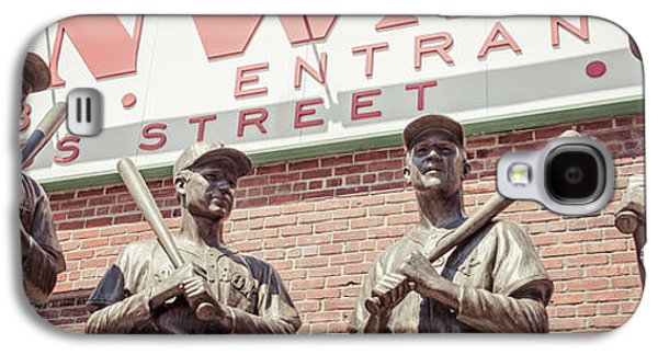 Fenway Park Bronze Statues Panorama Photo Galaxy S4 Case by Paul Velgos