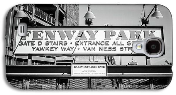 Fenway Park Sign Black And White Photo Galaxy S4 Case by Paul Velgos