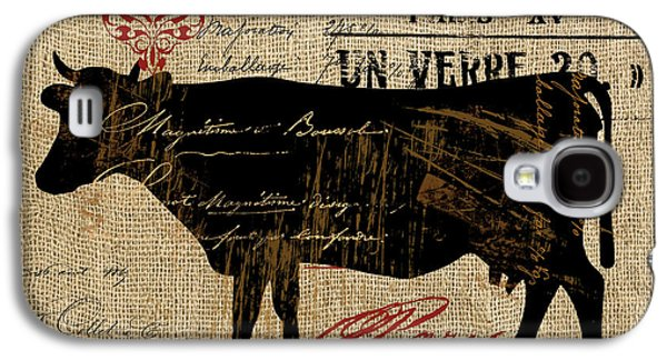 Cow Galaxy S4 Case - Ferme Farm Cow by Mindy Sommers