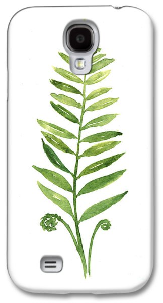 Fern Leaf Watercolor Painting Galaxy S4 Case by Joanna Szmerdt