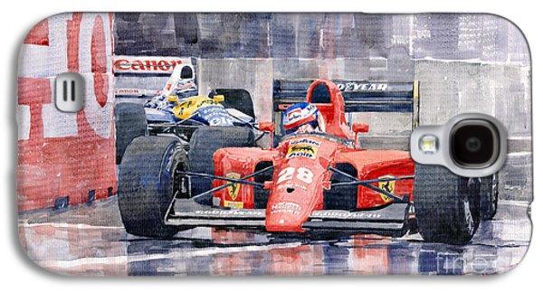 Ferrari F1 Jean Alesi Phoenix Us Gp Arizona 1991 Galaxy S4 Case by Yuriy  Shevchuk