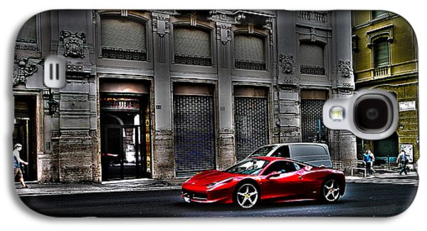Ferrari In Rome Galaxy S4 Case by Effezetaphoto Fz