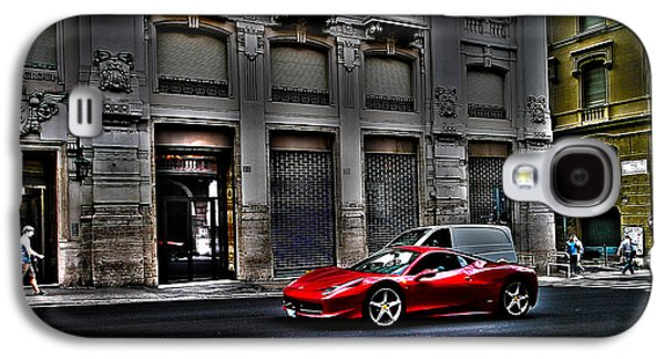 Ferrari In Rome Galaxy S4 Case by Effezetaphoto Fz