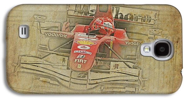 Ferrari Race Car, Gift For Men, Brown Background Galaxy S4 Case by Pablo Franchi