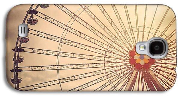 Ferris Wheel Prater Park Vienna Galaxy S4 Case by Carol Japp