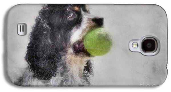 Fetching Cocker Spaniel  Galaxy S4 Case by Benanne Stiens