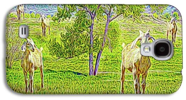 Field Of Baby Goat Dreams Galaxy S4 Case by Joel Bruce Wallach