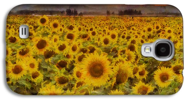 Field Of Sunflowers Galaxy S4 Case by Mark Kiver