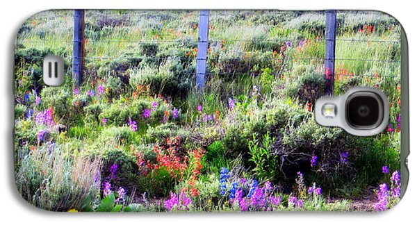 Field Of Wildflowers Galaxy S4 Case by Karen Shackles