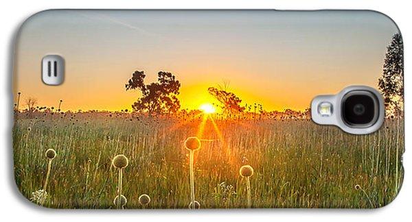 Amazing Sunset Galaxy S4 Case - Fields Of Gold Panorama by Az Jackson