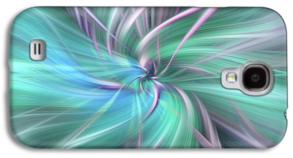 Silver Turquoise Galaxy S4 Case - Fields Of Ice. Mystery Of Colors by Jenny Rainbow