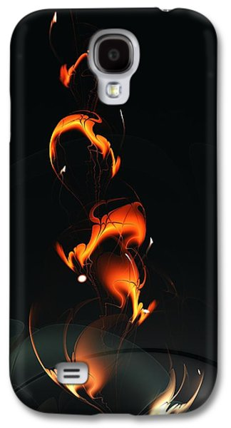 Fiery Flower Galaxy S4 Case by Anastasiya Malakhova