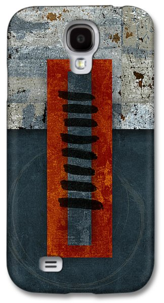 Fiery Red And Indigo One Of Two Galaxy S4 Case by Carol Leigh