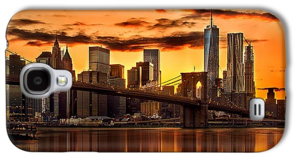 Fiery Sunset Over Manhattan  Galaxy S4 Case