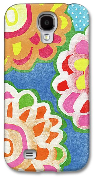 Fiesta Floral 3- Art By Linda Woods Galaxy S4 Case by Linda Woods