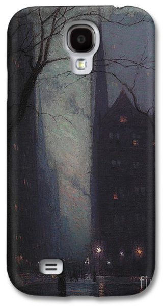 Fifth Avenue At Twilight Galaxy S4 Case by Lowell Birge Harrison
