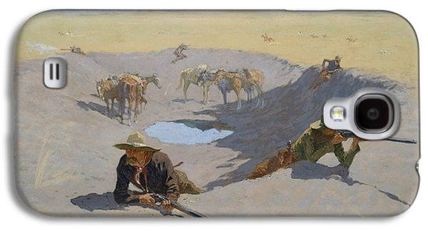 Fight For The Waterhole Galaxy S4 Case by Frederic Remington
