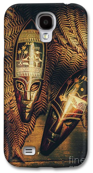 Fijian Tiki Tribal Masks Galaxy S4 Case by Jorgo Photography - Wall Art Gallery