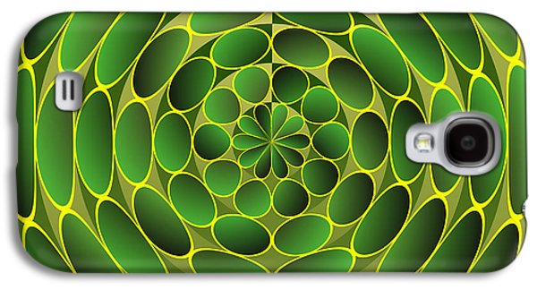 Filled Green Ellipses Galaxy S4 Case