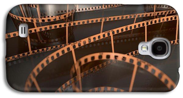 Film Strip Curled Galaxy S4 Case by Allan Swart