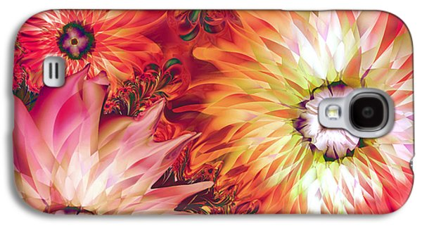 Fire Asters Galaxy S4 Case by Mindy Sommers