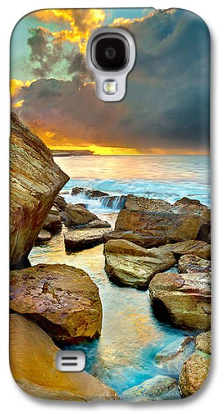 Travel Galaxy S4 Case - Fire In The Sky by Az Jackson
