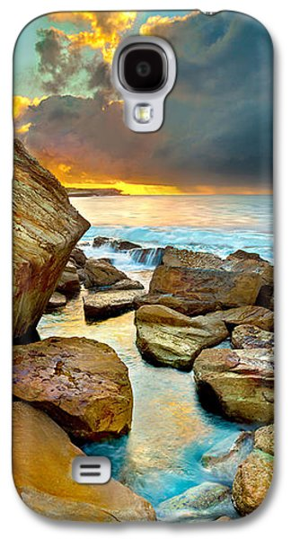 Fire In The Sky Galaxy S4 Case by Az Jackson