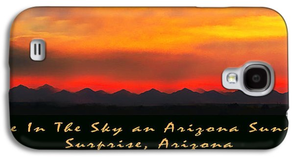 Fire In The Sky Galaxy S4 Case by Barbara Snyder