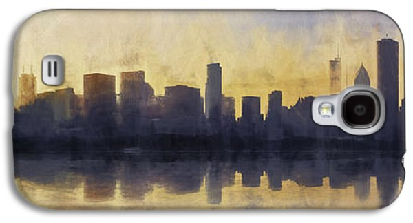 Fire In The Sky Chicago At Sunset Galaxy S4 Case by Scott Norris