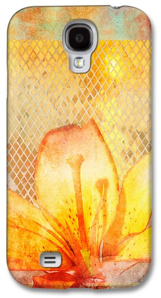 Modern Abstract Galaxy S4 Cases - Fire Lily Galaxy S4 Case by Aimee Stewart