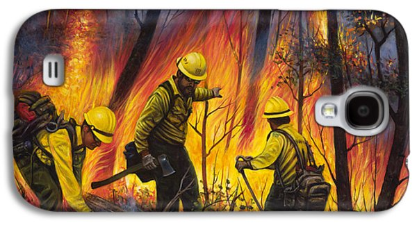 Fire Line 2 Galaxy S4 Case