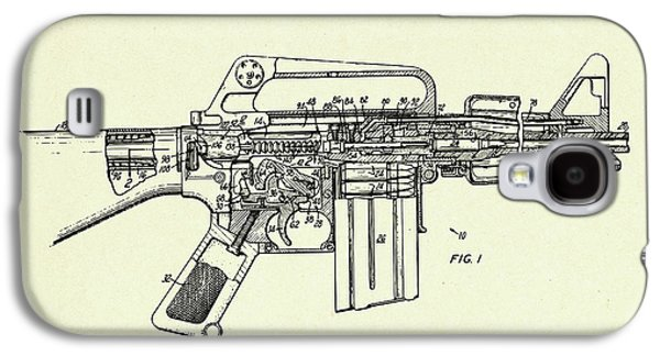 Firearm Having An Auxiliary Bolt Closure Mechanism-1966 Galaxy S4 Case by Pablo Romero