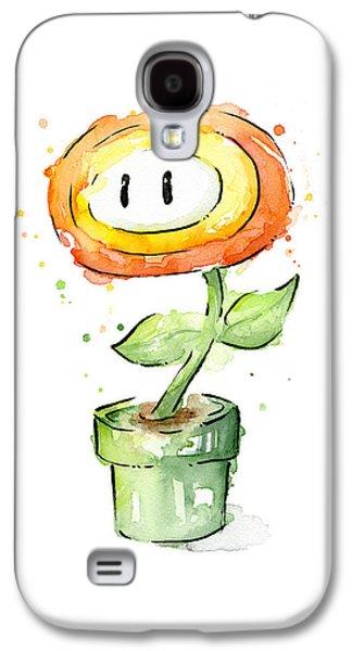 Fireflower Watercolor Painting Galaxy S4 Case by Olga Shvartsur