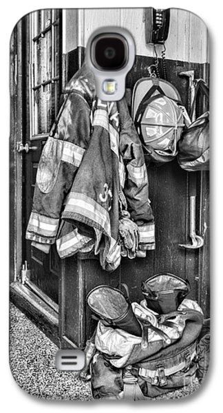 Fireman - Always Ready - Black And White Galaxy S4 Case