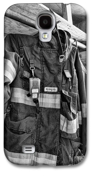 Fireman - Saftey Jacket Black And White Galaxy S4 Case