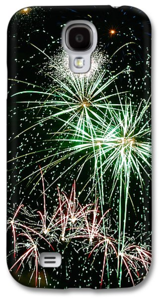 4th July Galaxy S4 Cases - Fireworks 4 Galaxy S4 Case by Michael Peychich