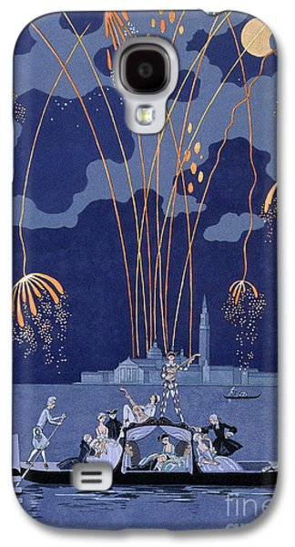 Fireworks In Venice Galaxy S4 Case by Georges Barbier