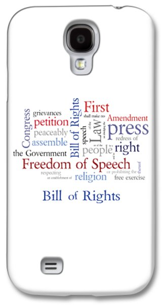 First Amendment - Bill Of Rights Galaxy S4 Case by Antique Images