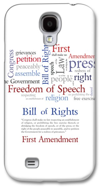 First Amendment Freedom Of Speech Galaxy S4 Case by Antique Images