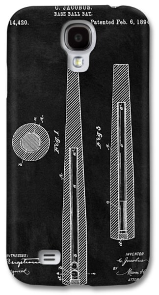 First Baseball Bat Patent Illustration Galaxy S4 Case