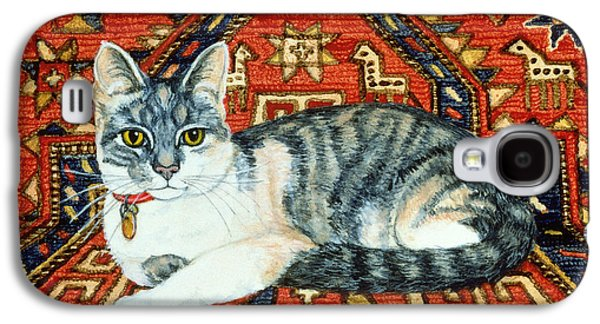 Persian Carpet Galaxy S4 Cases - First Carpet Cat Patch Galaxy S4 Case by Ditz