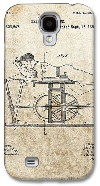 First Exercise Machine Patent Galaxy S4 Case