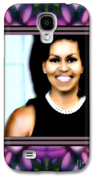 First Lady Michele Galaxy S4 Case by Wbk